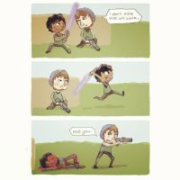 Paintball Comic with Lightsabers! by charli-art