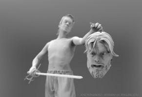 David with the head of Goliath 07 by Myselfsama