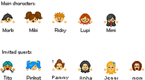 My emoticon characters by Minakie
