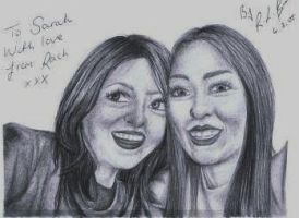 Sarah and I at the Foo's by hippy-girl