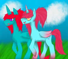 Pink and Blue Princess Walk by ToriFlame