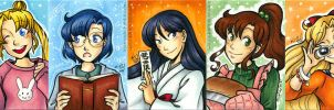 Sketch Cards - Sailor Moon Casual Wear by Karmada