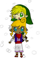 Link on Tetra by applejackles