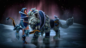 SnowStorm DOTA2 Mirana set loading screen by Anuxinamoon