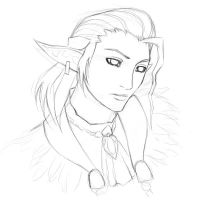 FFXI - sketch of Luzaf by pika