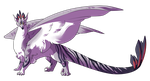 Purple fluffy dragon by Meow16305