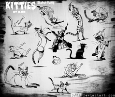Kitties Sketchlings -art dump- by DJ88