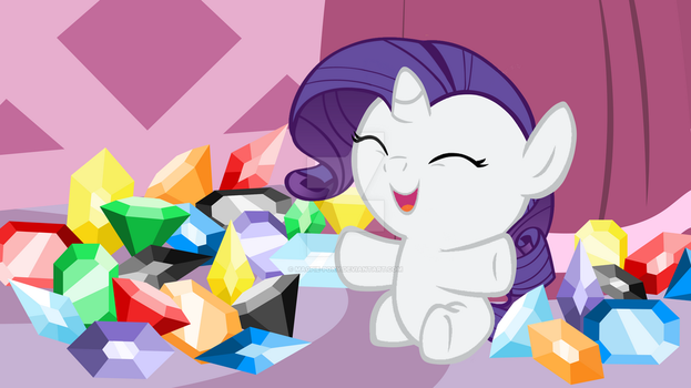Rarity Surrounded by her Favorite Things by Magpie-pony