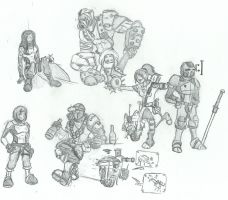 Borderlands 2 characters by eightball6219