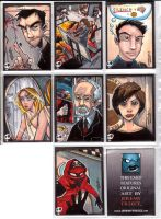 Sketchcards - Even more Heroes by JeremyTreece