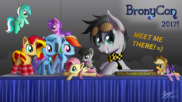 Epicrainbowcrafts' BronyCon Booth (Commission) by Duskie-06