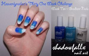 Week Ten - Gradient Nails by shadowfallx