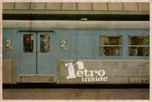 Train + Retro-Inside by hairtonic