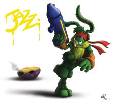 Jazz Jackrabbit by eru0iluvatar