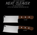 [MMD/M3 Accessory] Meat Cleaver + DL by The-Horrible-Mu