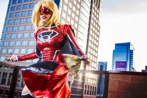 Red Lantern Supergirl : I HATE EVERYTHING by Khainsaw