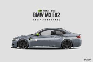 Liberty Walk / LTMW M3 E92 by Gurnade