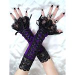 long fingerless gloves, arm warmers in gothic, by Eusebie