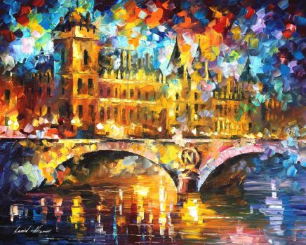 River City by Leonid Afremov by Leonidafremov