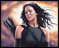 Jennifer Lawrence, Katniss Everdeen by louissollune