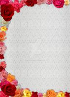 Victorian Rose - Lace backgrnd by TerryLightfoot