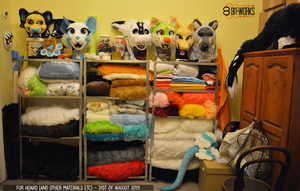 Organised all my materials :D by TrelDaWolf