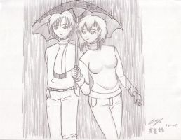 Date in the Rain by aniki91344