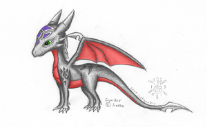Cynder standalone - colored by IceFlame1019