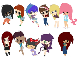 oops i made a bunch of girls by Amazing-Max