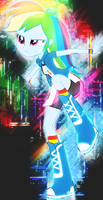 Abstract Rainbow Dash by DigiRadiance
