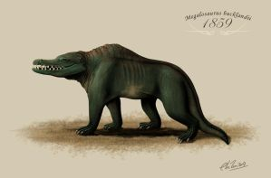Vintage Megalosaurus is Vintage by ChrisMasna