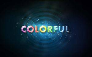 Texto Colorful PSD by GianFerdinand