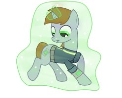 Littlepip Self-Levitation by AppleTarty