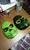 Cast Mask Black/Green and Green/Purple by foxdog77