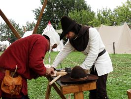Living History: learning how to wood-carve by HitoCosplay
