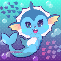 c: Vaporeon by Miss-Glitter