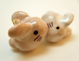 Milky white Bunnies by myako