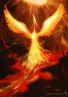 Phoenix Rising: Speed Paint by Tekamza