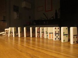 Photography - Falling Dominoes 3 by watermelemon