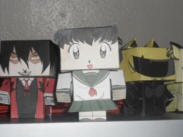 Kagome Paper Figure by L0RDINUYASHA