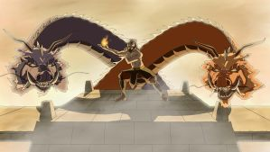 Iroh and the Firebending Masters by EagleOfTheStar