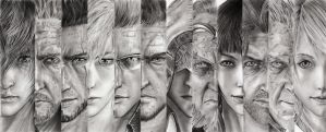 Final Fantasy 15 characters by leon7929