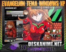 Asuka Langley Soryu Theme Windows XP by Danrockster