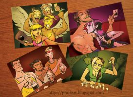Spring Break X-Men YEAH by Phostex