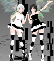 Gemini Twins - Download by SapphireRose-chan