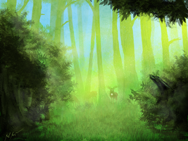 Elwynn forest afternoon by Nialthstrasz