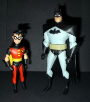 Batman and Robin - Animated Series Figures by CyberDrone2-0