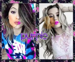 Purple Lips PSD by ItsQueenColors