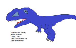 Giganotosaurus carolinii fact file by koopalings98