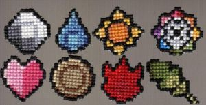 Pokemon Kanto Badges by StitchPlease